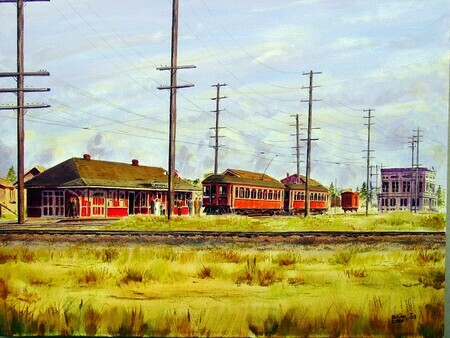 294. Interurban at Cloverdale Station